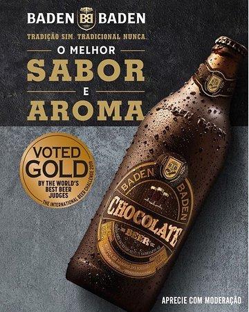 Chegou Baden Baden Chocolate Beer, premiada com ouro por ter o melhor sabor e aroma entre as cervejas escuras feitas com chocolate. Aprecie com moderação! 😊 . . Tem tb @cervejabadenbaden #cristal #weiss #americanipa #golden #bock #witbier #beer