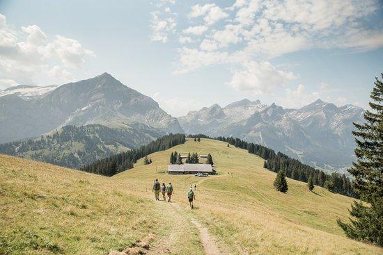 Gstaad, Suisse : Wanderung Wispile