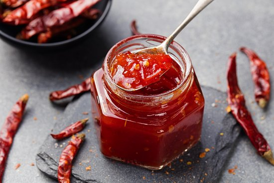 Pearly Beach, Южная Африка: Home made chili jams and other preserves.....