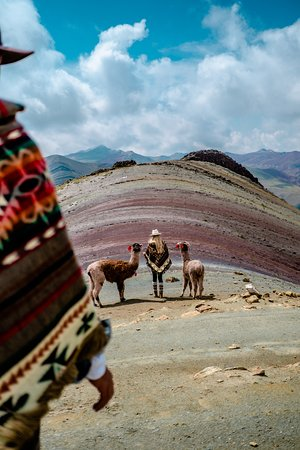Nothing better than exploring a new country with your favorite person.❤️ You will love your time together at Palccoyo Rainbow Mountain, as here you will not only enjoy the colorful surroundings, but you can also hike with an alpaca or a llama.🤗If you need more info about that adventure send us an email to: info@exploor.pe #Exploorperu