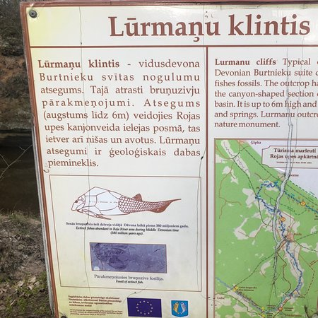 Kurzeme Region, Letonija: Lūrmaņu cliffs. Again closer to the nature! The wonderful sigt. You really need to spend 15-60 minutes of your time to see that. Even in Kurzeme we have nice cliffs.