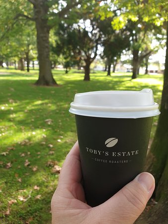 Get a coffee and head to the park!