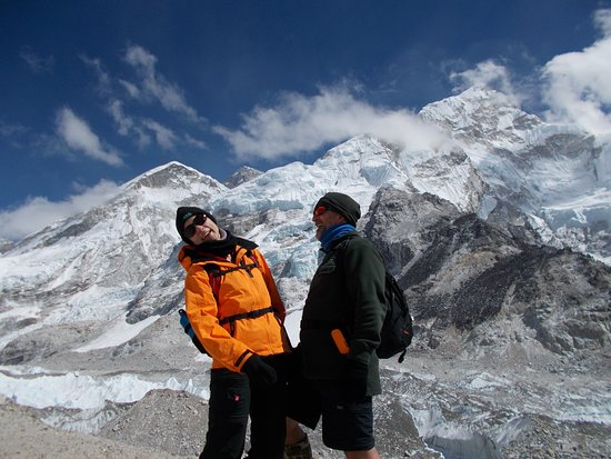 Everest Base Camp Trek - 14 Days: Everest peering over the ridge above...