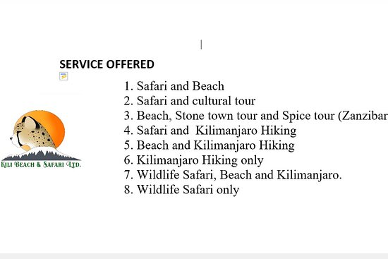 KILI BEACH & SAFARI LTD