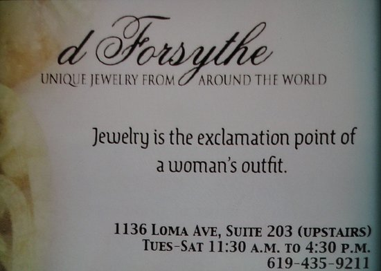 D Forsythe Unique Jewelry From Around the World