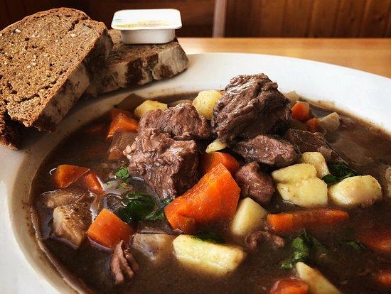 Beef stew with homemade Irish soda bread