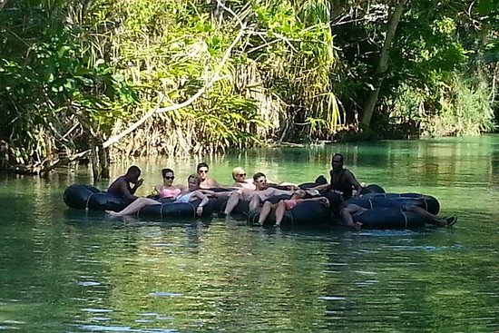 Blue Hole and River Tubing from Ocho...