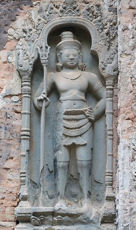 Roluos, Camboja: detail of Preah Ko