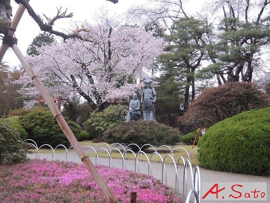 Sanada Nobuyuki & Komatsu Hime Statue
