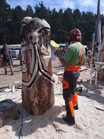 Grafenhainichen, เยอรมนี: Holzskulpturenwiese während des Holzskulpurenfestivals