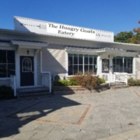 Greenfield, NH: This is  The Hungry Goats Eatery. The place to stop and eat and meet some new friends