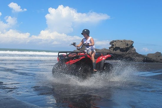 Bali Quad Biking In Black sand Beach