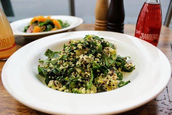 Errol's Cafe: Thunder Salad with quinoa, spinach, pear, fetta & broccoli