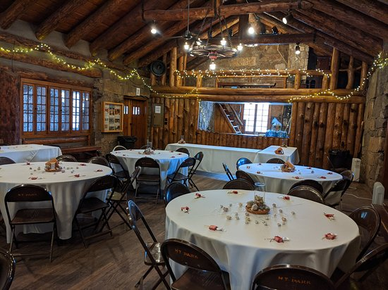 Beulah, CO: The pavilion with our decorations. They set up the tables and chairs how we asked then we decorated.
