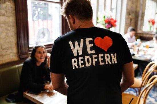 We love being located in Redfern and love being everyone's local.