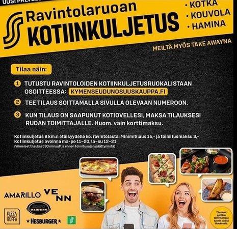Ruokalista osoitteessa: kymenseudunosuuskauppa.fi