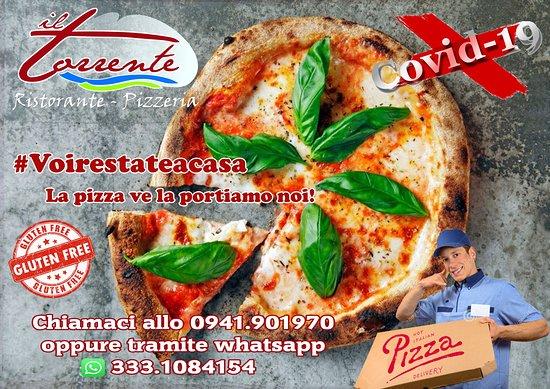 Ripartiamo da qui........ Per affrontare l'emergenza #covid19 Il Torrente effettuerà la consegna a domicilio!  Voi restate a casa la pizza ve la portiamo noi, anche gluten free!  Gustala comodamente a casa tua in tutta sicurezza prenota allo 0941901970 oppure tramite whatsapp 3331084154  #voirestateacasa #lapizzavelapoertiamonoi #ripartiamodaqui #glutenfree #delivery #pizzadelivery