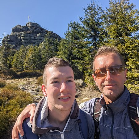 Hejnice, Τσεχική Δημοκρατία: Jizera mountain today trip with my son..🤟🏴☠️☠️🤟