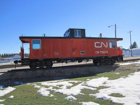 Evansburg, Canadá: Our CN train caboose