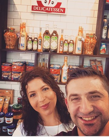 Husband and wife team owners of Italiana Delicatessen