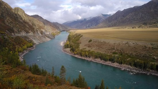 Mountain Altai. Valley of the Katun river.