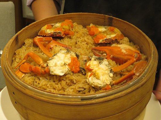 ワタリガニともち米の蟹おこわ