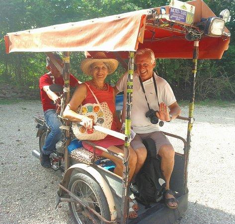 Taxi local pour nos clients il y a quelques mois dans le Yucatan !