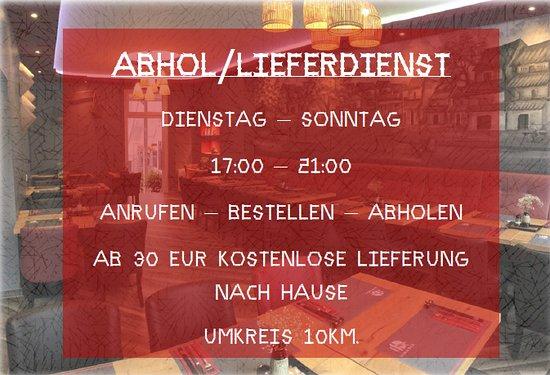 Anholt, Đức: Ab dem 5. Mai Abhol- und Lieferdienst.