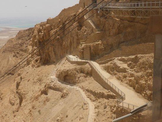 Sentiero del serpente . Il faticoso accesso alla fortezza di masada