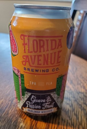 This Florida Avenue Berliner Weisse was a great find - Guava & Passion Fruit brewed here in Tampa