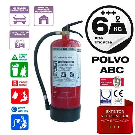 Provincia de Sevilla, España: Extintor 6 kg alta eficacia