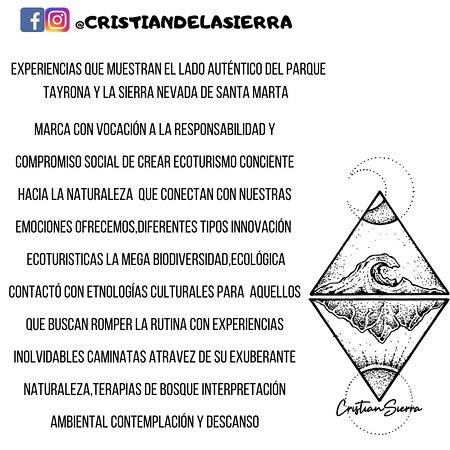 @cristian_delasierra visión de las guianzas productos eco turísticos y experiencias de viajar con Cristian de la Sierra