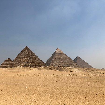 The beautiful and amazing pyramids of Giza.