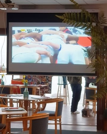 Neyland, UK: Rugby matches played on the big screen, requests can be made for other matches