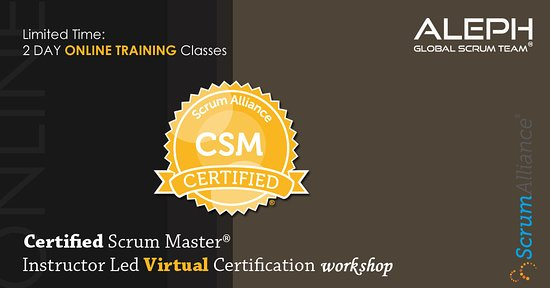 Techirghiol, Roemenië: Certified Scrum Master | Virtual Instructor Led workshop | Early Bird Price - 997$ | 24/7 Support Certification ||																																	  With Aleph Global Scrum Team, Training gives a thorough assessment of the Scrum structure for light-footed mission control and will assemble you to wind up an approved Scrum Master, need to GET CERTIFIED! For more details visit: https://bit.ly/2YyNCgp