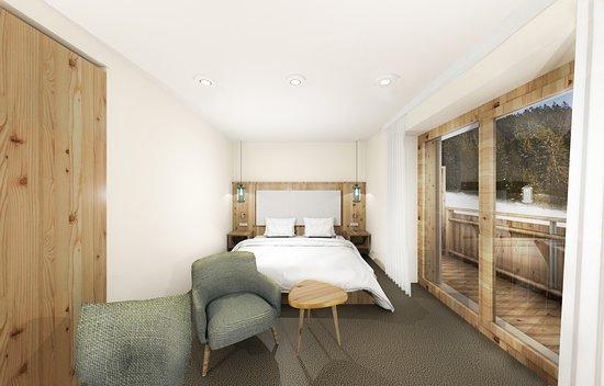 Waldblickzimmer, kuschelig mit großem Balkon und die Ruhe des Waldes vor der Haustüre