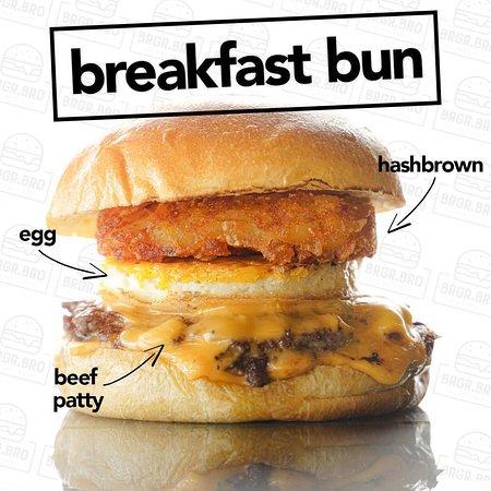 Mighty Breakfast  * Egg Hashbrown 100% Angus Beef