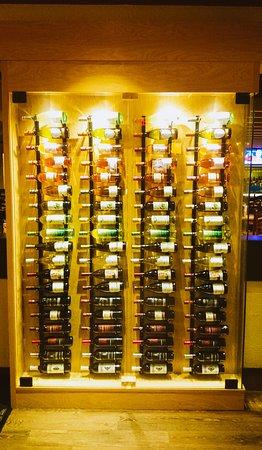 Wine rack at Olive Garden