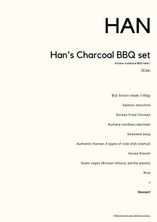 Han's Charcoal BBQ set