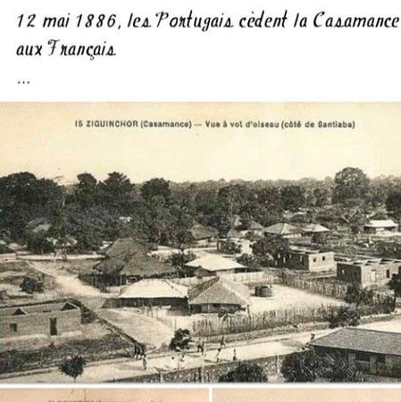 Ziguinchor Region, Sénégal: L'officialisation de l'ère française dans ma région (Ziguinchor), casamance