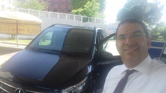Mercedes Vito minivan Tourer set up with black leather interior