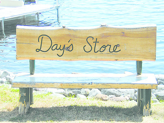 Day's Store sits on a peninsula between Long Pond and Great Pond in Belgrade Lakes, Maine. Access by boat from two lakes.