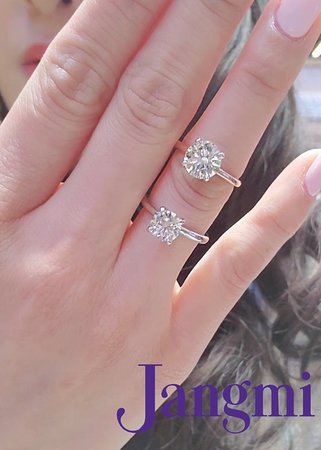 round cut diamonds on our love set solitaire