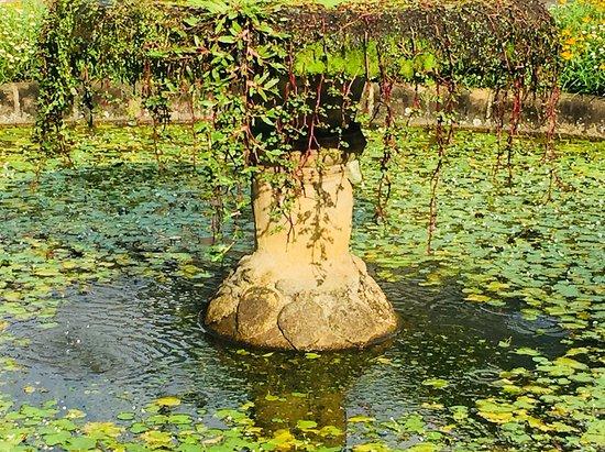 Kandy District, Sri Lanka: Fountain with elephant feet, Royal Botanical Gardens