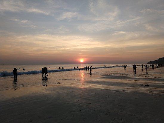 Radhanagar Beach--Sunset