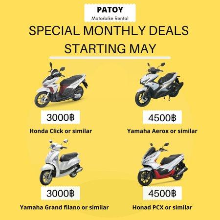 Patoy Motorbike Rent Bangkok