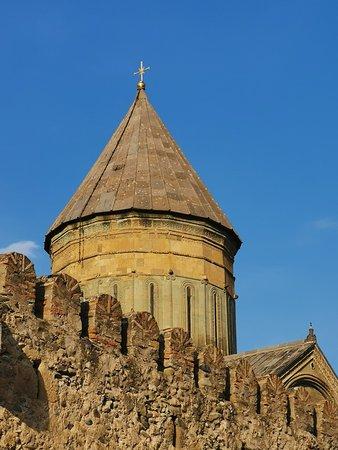 """A dome at the """"Svetitskhoveli Cathedral"""" in Mtskheta."""