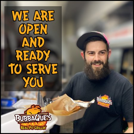 Our dining room is open and we are here to serve you the best BBQ in town!