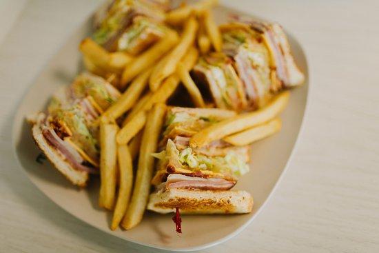 Norco, LA: Club Sandwich and Fries