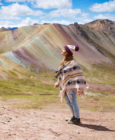 Explore a place where you are far away from other travelers, so that you can absorb Peru's untouched beauty.❤️ If that sounds just right then you should make sure to visit Palccoyo Rainbow Mountain!🌈⛰️#ExploorPeru